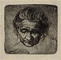 porträt einer alten frau by luigi russolo