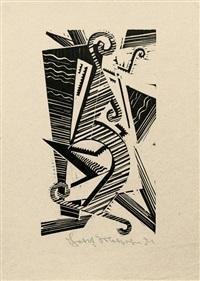 opus xxxiii, pl. 10 (from bauhaus drucke. neue europäische graphik. dritte mappe. deutsche künstler) by johannes molzahn