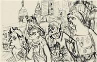 die hausfrauen in der rue rochechouart by karl hubbuch