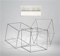 trois cubes imbriques stahlobjekt by françois morellet
