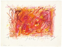 red one (meta-harmonie en orange) by jean tinguely