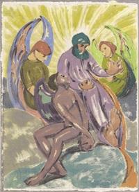 biblische szene by moritz (moriz) melzer