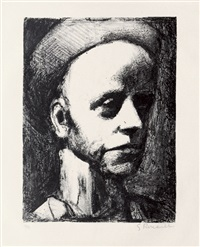 autoportrait i, pl. 2 (from souvenirs intimes) by georges rouault