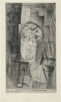 guillaume apollinaire by louis marcoussis