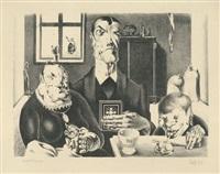 industriebauern (wucherbauernfamilie) by georg scholz