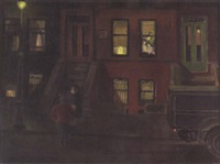 dusk in the city by sydney s. gelfand