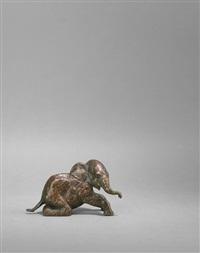 kniender elefant by renée sintenis