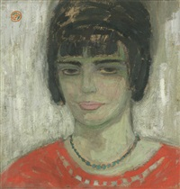 vrouw in rood by gustave de smet