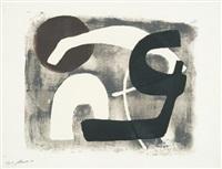 9 original-handdrucke (9 works) by fritz winter
