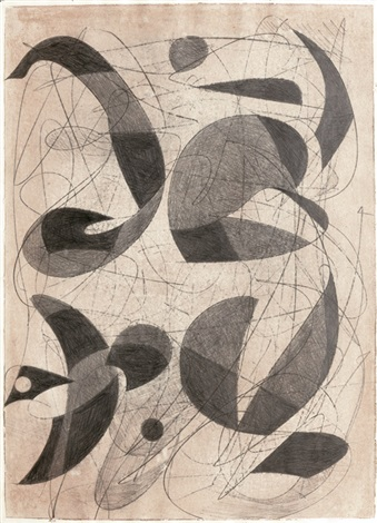 abstrakte komposition by theodor werner