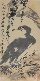 cormorant by li kuchan