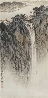 waterfall landscape by song wenzhi
