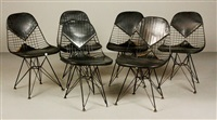 eiffel tower chairs (set of 6 works) by herman miller