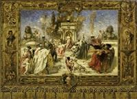 allegorische darstellung des siegreichen fürsten (design for mural) by ernst hildebrand