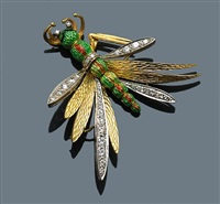 a brooch of insect motif by moba