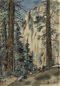eagle peak trail (from the world landscape series) by chiura obata
