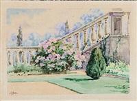 garden view by olga (grand duchess) alexandrovna