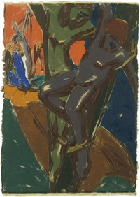 crucifixion by moritz (moriz) melzer