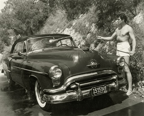 rock hudson washing his car by sid avery