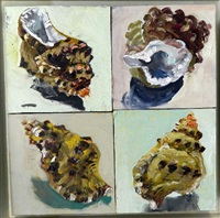 multiple shells, green (4 works) by lucy culliton