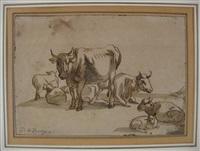 cows and sheep by dirk van bergen