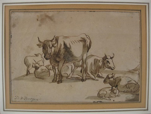 cows and sheep by dirk van bergen