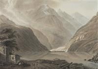 la vallée & le lac de pusclave by ludwig hess