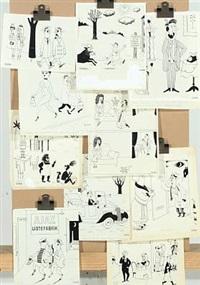 cartoon strips (80 works, various sizes) by siegfried cosper cornelius