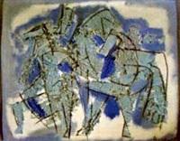 blaue pferde by pierre bosco