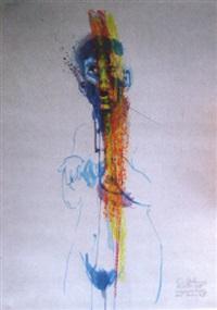 verängstigtes portrait einer berlinerin iii by wolfgang isle
