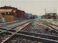 oakland train tracks by anton gintner