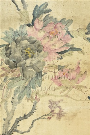 Cixi ink and color on silk painting flowers by empress dowager cixi cixi ink and color on silk painting flowers by empress dowager cixi mightylinksfo