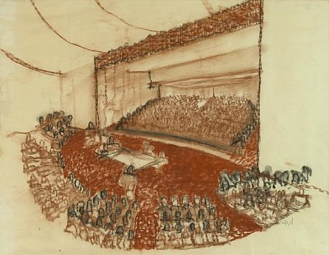 untitled interior of a concert hall by richard neutra