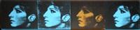 3 turquois 1 ochre barbras (jewish jackie series) by deborah kass