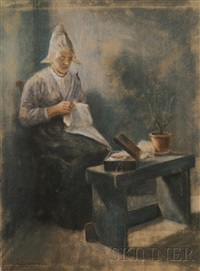 the fisher's wife handworking by jacob taanmann