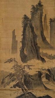 松风对弈图 by dai jin