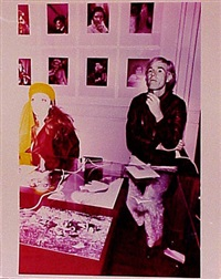 superstar viva and andy warhol at the factory, new york, 1968 by billy name