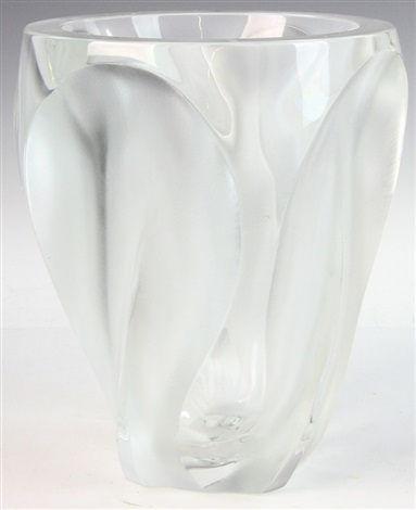 Lalique Crystal Vase Clear And Frosted Design By Lalique On Artnet
