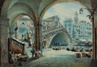 pont du rialto à venise by mathias gabriel lory