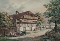 berner bauernhaus in sonniger abendstimmung by mathias gabriel lory