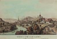 vue de la ville de baden en argeu du coté de bains by matthias pfenninger