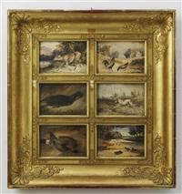 ohne titel (6 works, framed together) by newton (smith limbird) fielding