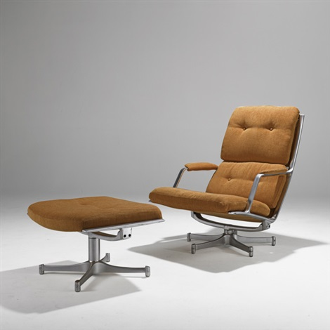 lounge chair and ottoman 2 works by preben fabricius