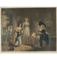 a visit to the child at nurse/a visit to the boarding-school (engraved by w. ward) by george morland