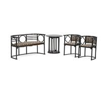 assembled parlour set (4 works) by josef hoffmann