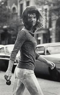 windblown jackie, 1971 by ron galella