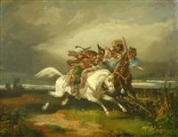 kampf zu pferde by károly jacobey