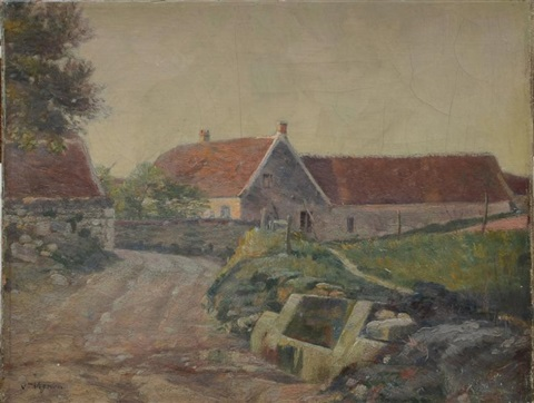 lentrée du village by victor alfred paul vignon