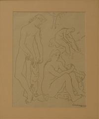 trois femmes nues à la rivière by honorio garcia condoy