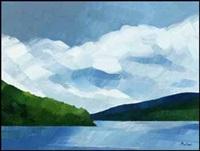 lake in gaspesia (00562/2013-t859) by claude picher